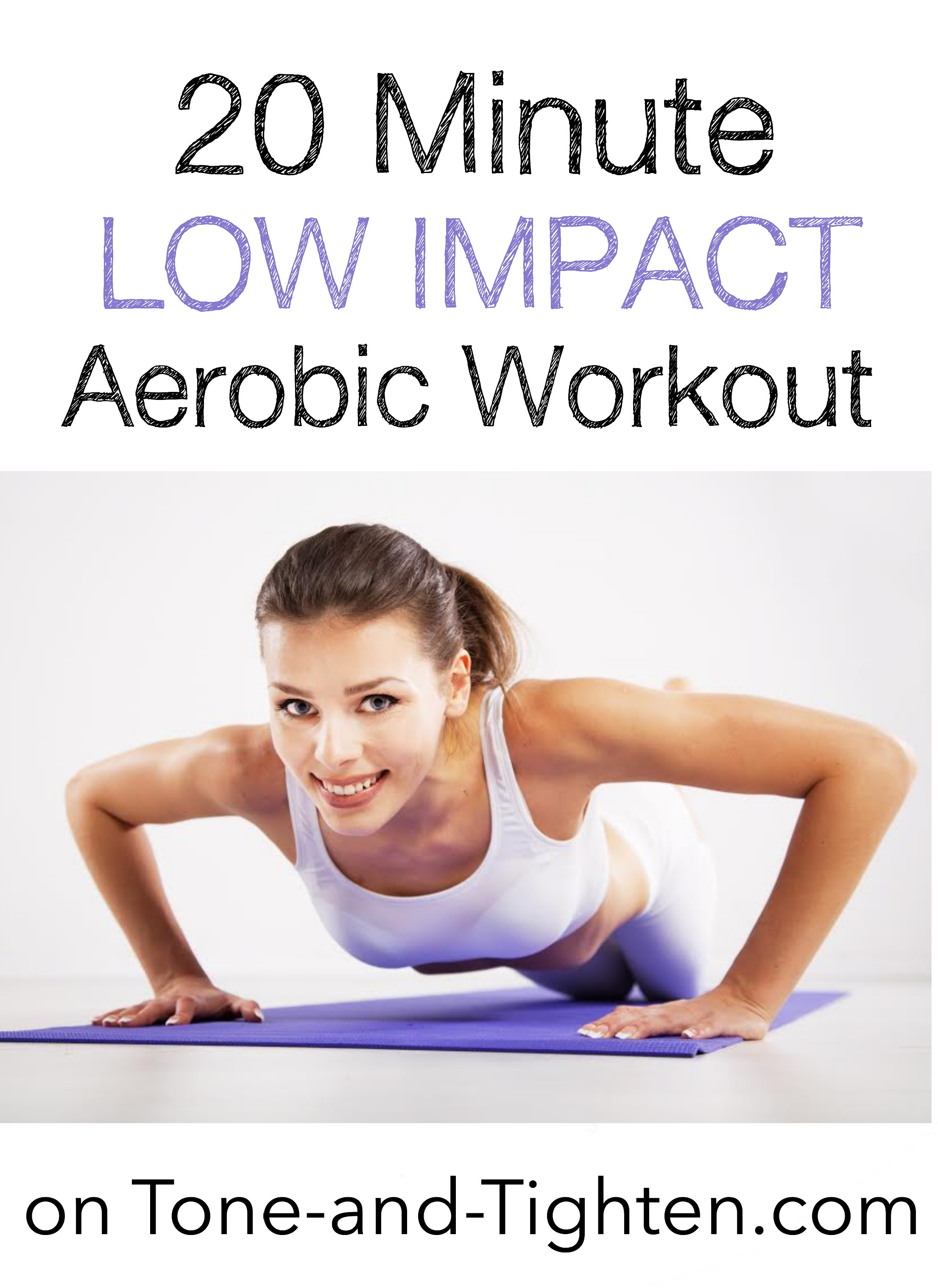 20 Minute At Home Cardio Workout 20 Minute Low Impact Aerobics Workout Tone And Tighten