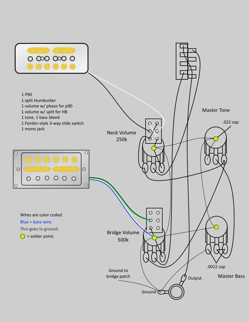 wiring diagram for dimarzio humbuckers