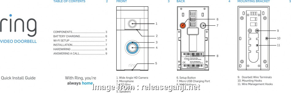 6 Wire Doorbell Wiring Diagram New BHARG031 Ring User Manual