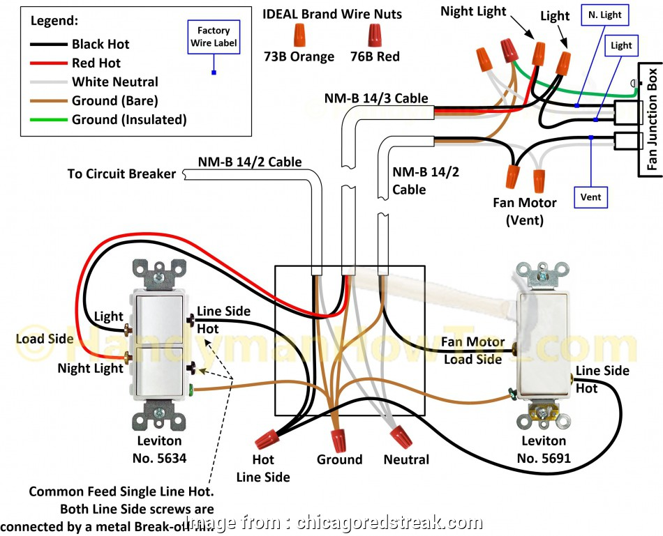 16 Simple Double Switch Wire Diagram Photos - Tone Tastic