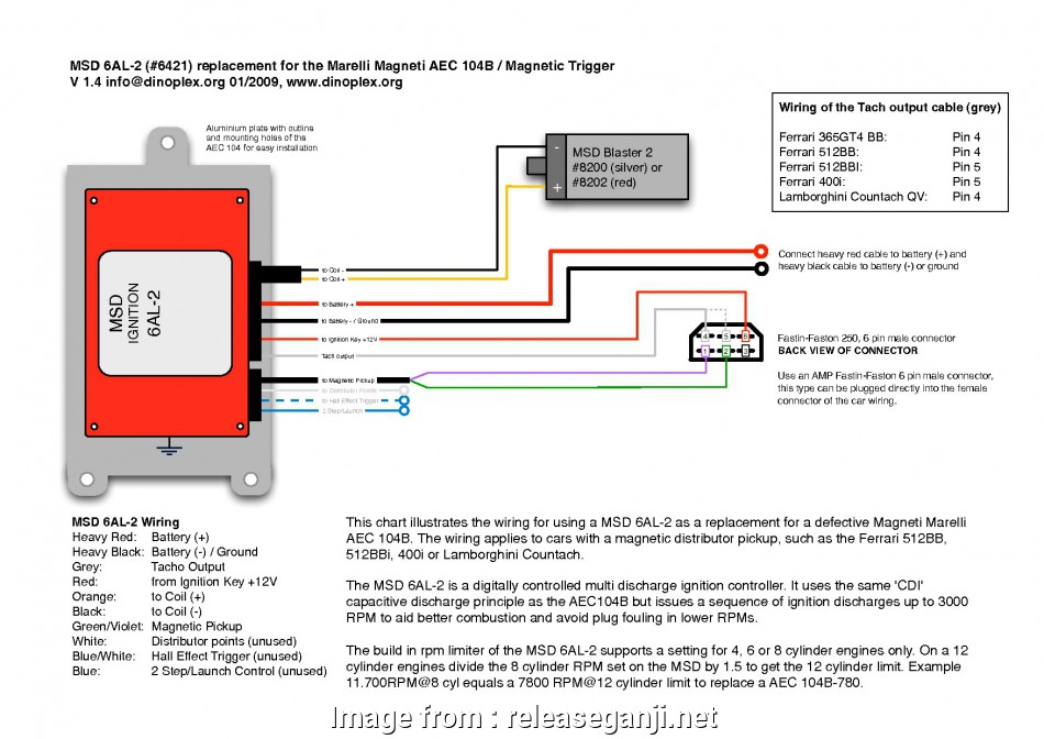 Msd, Wiring Diagram Pdf Most Wiring Diagram, 6Al Ford, Ignition, For