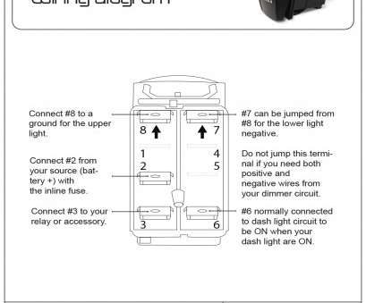 Boat Toggle Switch Wiring Practical 12V, Switch Panel Breaker 8 Gang