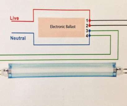 How To Wire A Fluorescent Light, Led Perfect T8, Tube Wiring Diagram