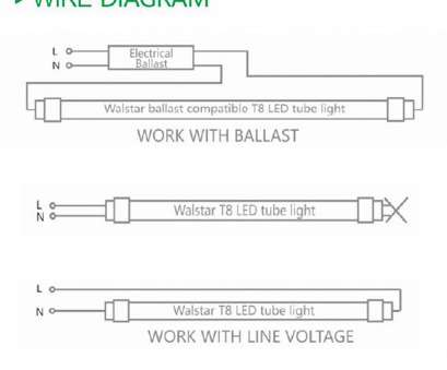 How To Wire A Fluorescent Light, Led New T8, Lamps Ballast 2 Philips