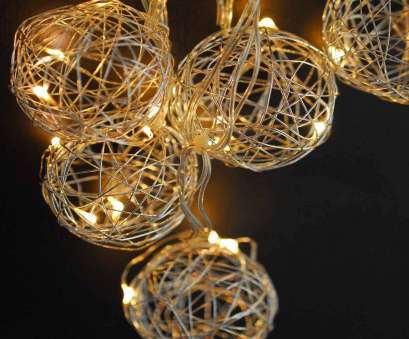 Wire Ball Light Practical Party String Lights-Decorative Beaded