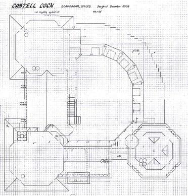 Castell Coch aerial plan