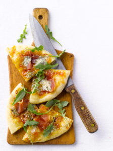 Prosciutto and Gorgonzola Flatbread
