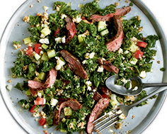 Flank Steak with Kale and Bulghur Salad