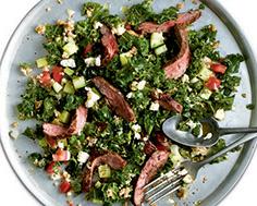 Flank Steak with Kale and Bulghur Salad