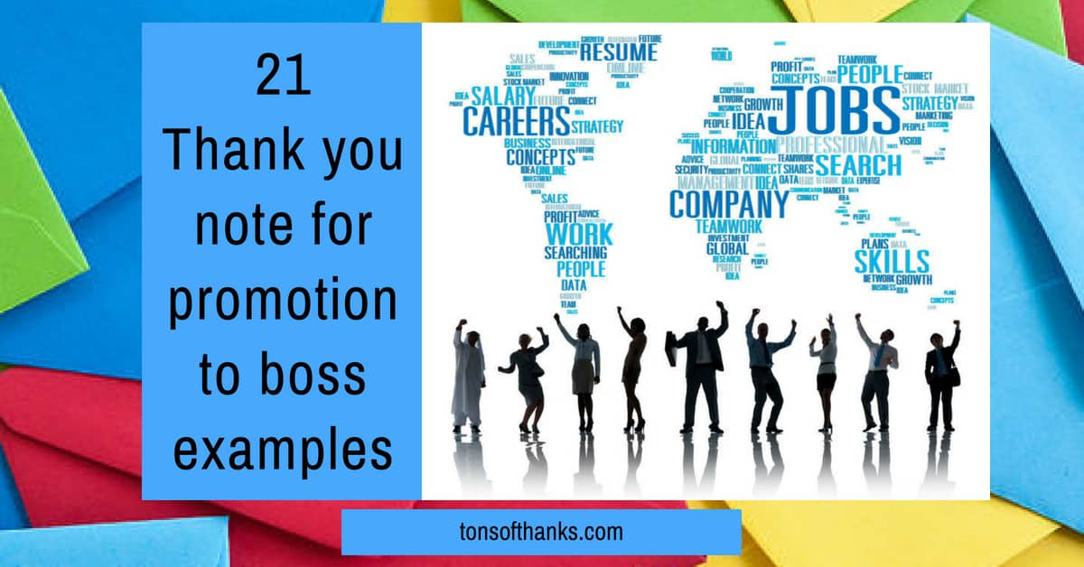 21 Thank you note for a promotion to boss examples