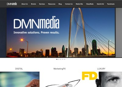 Relaunch of DMNmedia.com – Professional Services Web Site