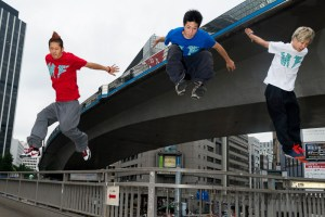 Parkour in Shibuya