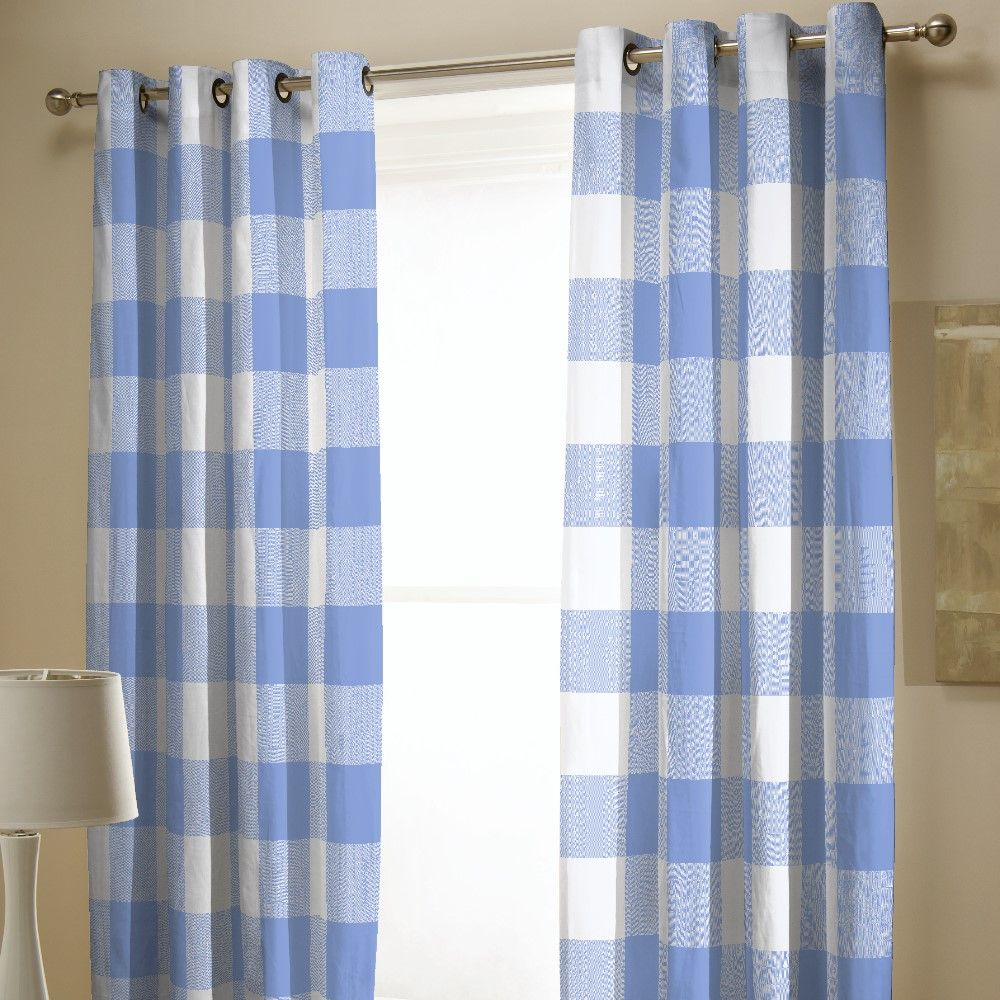 Black And Blue Curtains Details About Catherine Lansfield Boston Check Fully Lined Eyelet Curtains Black Blue Red