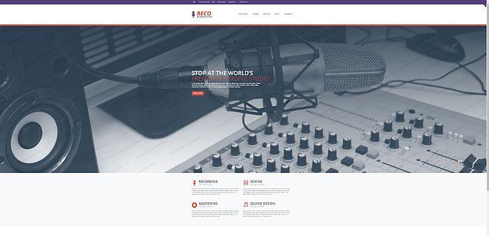 10 Sound Recording Studio website templates - Tonytemplates