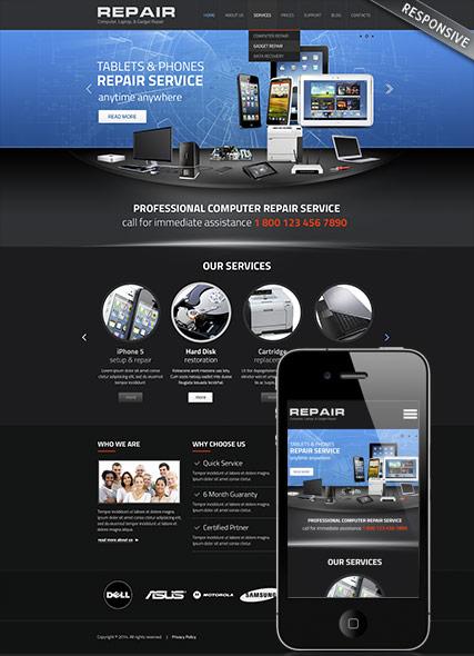 9 Adorable Computer Repair Website Templates