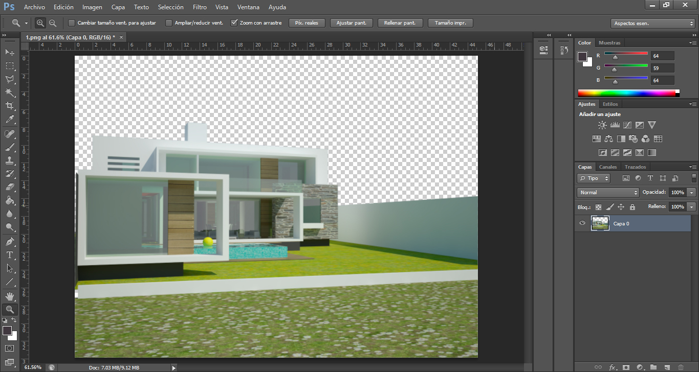 Photoshop Hintergrund Tutorial Architektur Rendering In Photoshop Nachbearbeiten