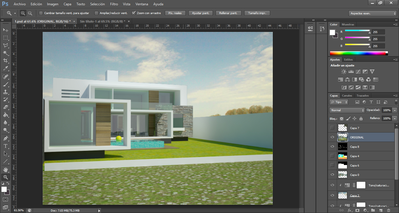 Architektur Rendering Tutorial: Architektur Rendering In Photoshop Nachbearbeiten