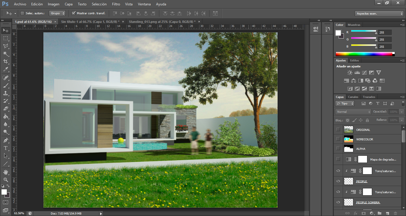 Architektur Rendering Photoshop Tutorial Architektur Rendering In Photoshop Nachbearbeiten