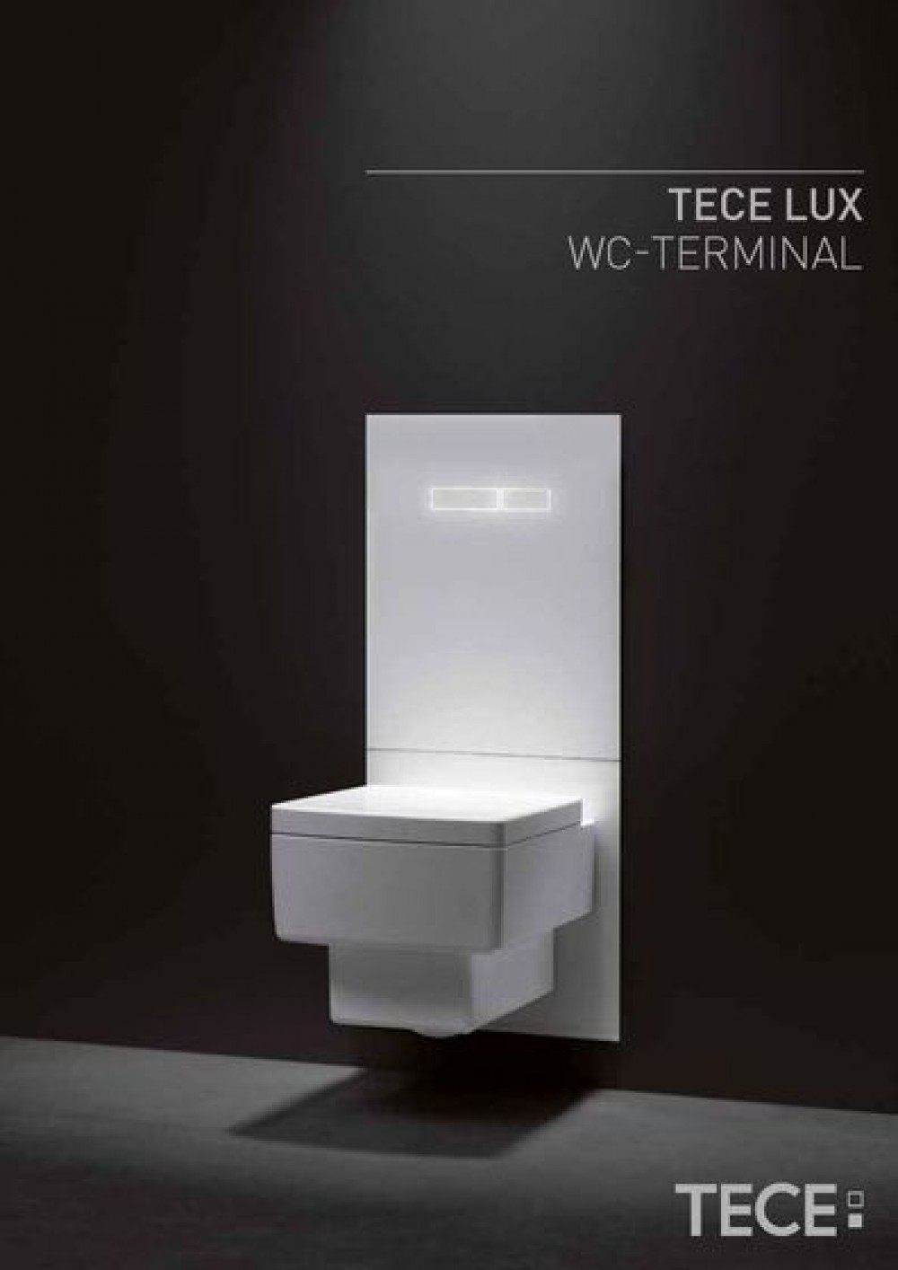 Tece Wc Tece Lux Glass Toilet Flush Plate With Electronic Sen Touch Actuation