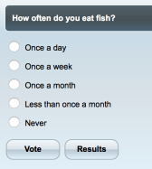 Online poll on fish as food