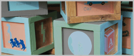 Alphabet Blocks Chalkboard Play Table Set