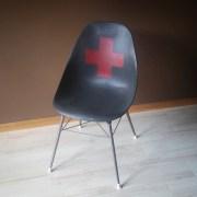Red Cross Retro Chair