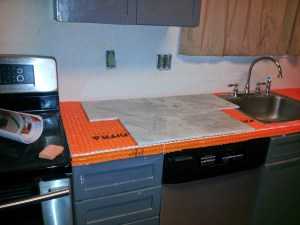 Dry set of tiles