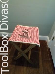 Build a folding canvas stool