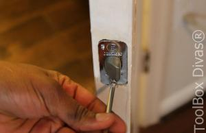 8 How to Replace a Bedroom & Bathroom Door Knob - Toolbox Divas