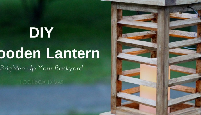 DIY Wooden Lantern That Looks Like You Bought It