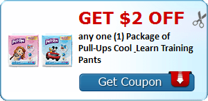 Get $2.00 off any one (1) Package of Pull-Ups Cool & Learn Training Pants