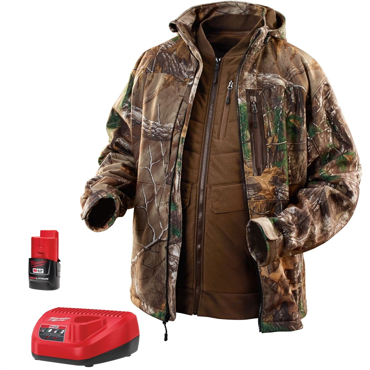M12 Heated Jacket M12 Realtree Xtra Camo 3 In 1 Heat Jacket Kit 2x