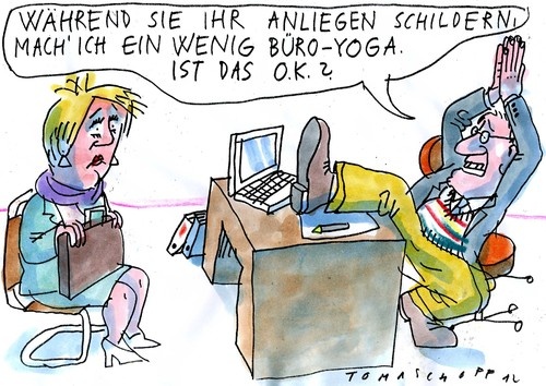 Büro Bilder Comic Büro-yoga By Jan Tomaschoff | Education & Tech Cartoon