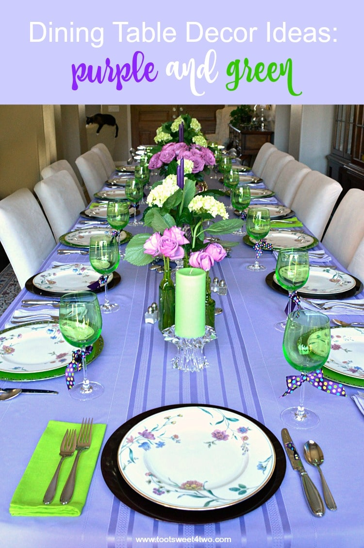 Decorating Ideas Dining Table Dining Table Decor Ideas Purple And Green Toot Sweet 4 Two