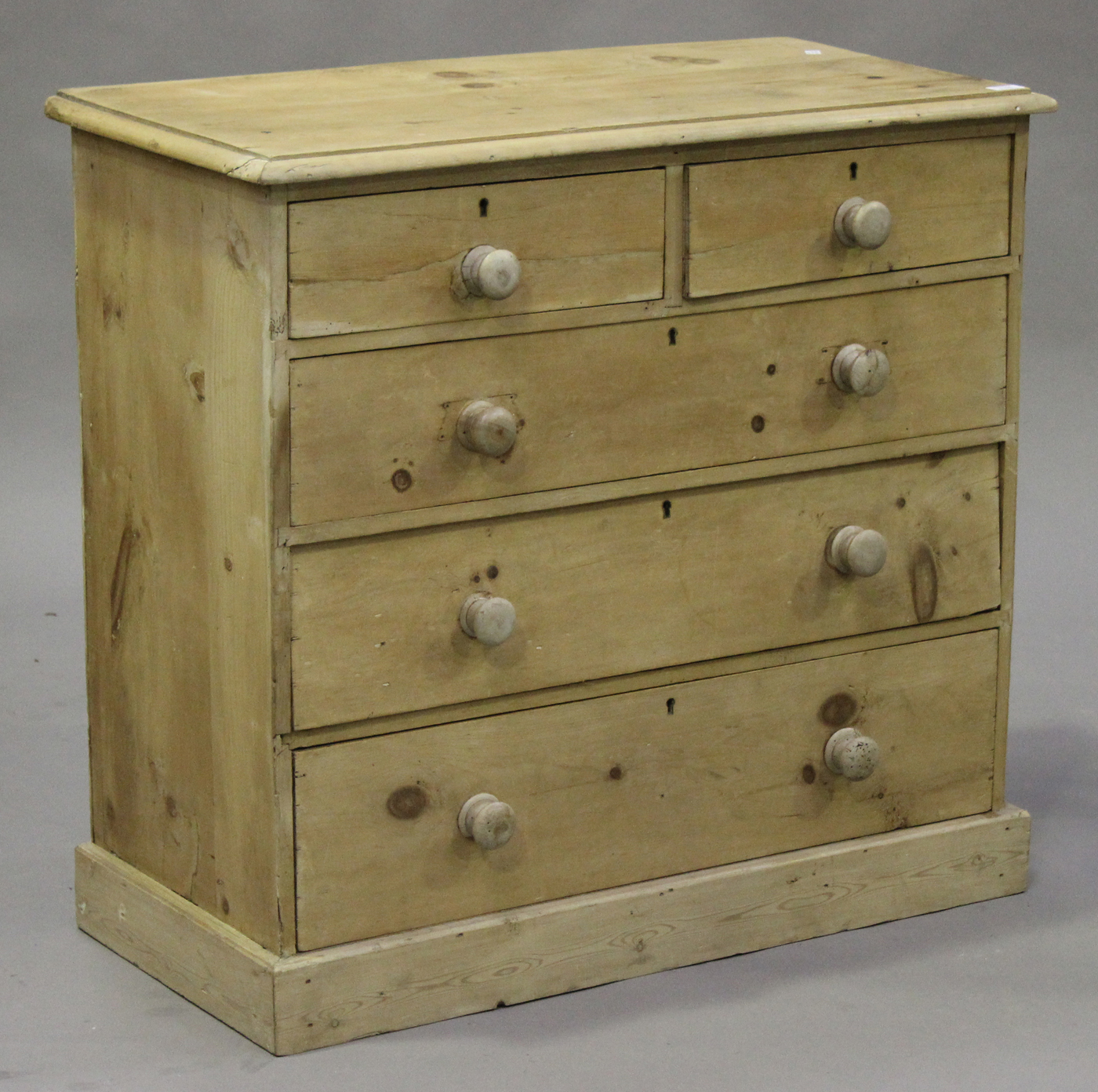 Victorian Pine Chest Of Drawers A Victorian Stripped Pine Chest Of Two Short And Three Long