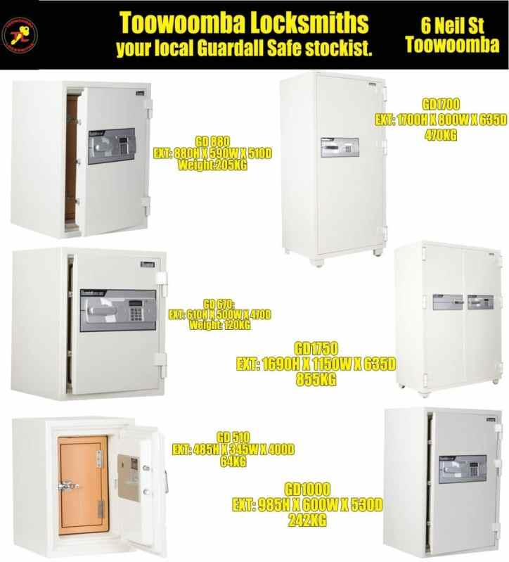 Toowoomba Locksmiths Guardall Safes2