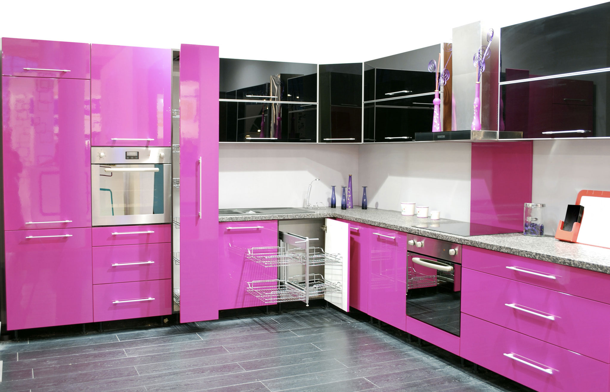 Pink And Black Kitchen Decor Cuisine Rose Top Cuisine