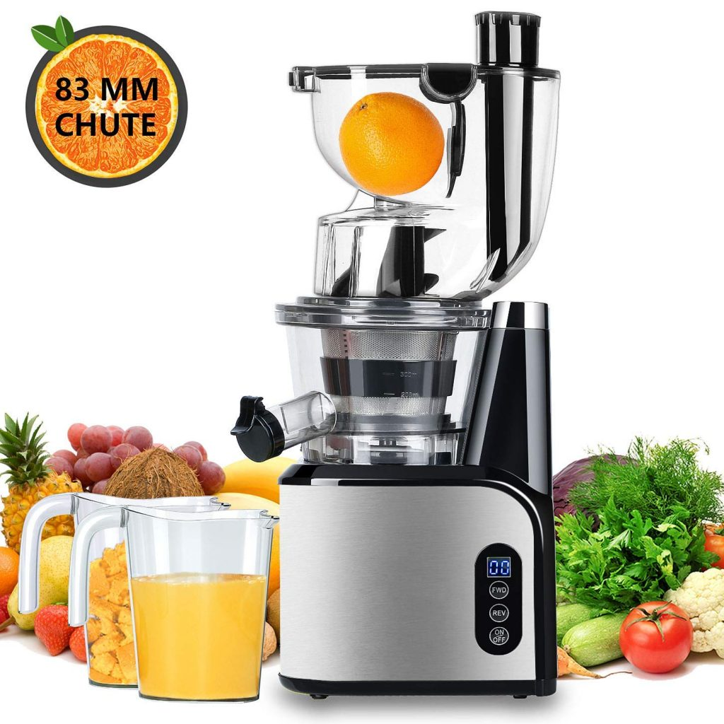 Extracteur Jus Test Et Avis Aobosi Extracteur De Jus Vertical Slow Juicer 80mm