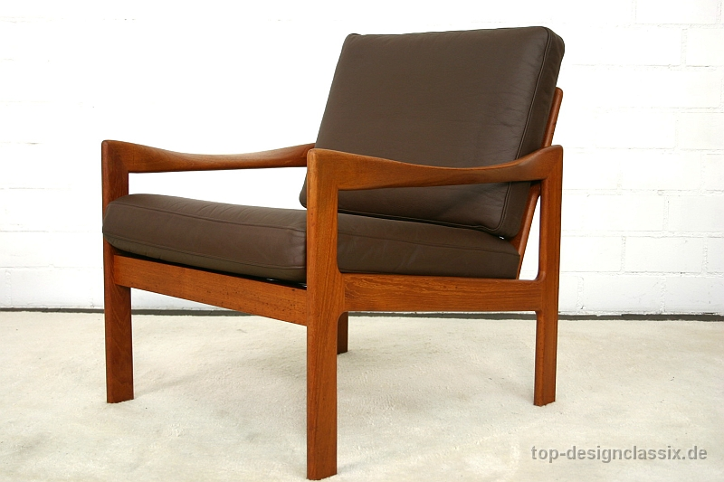 Lounge Sessel Skandinavisch Neuwertig! Danish Easy Chair Illum Wikkelsø Teak Lounge