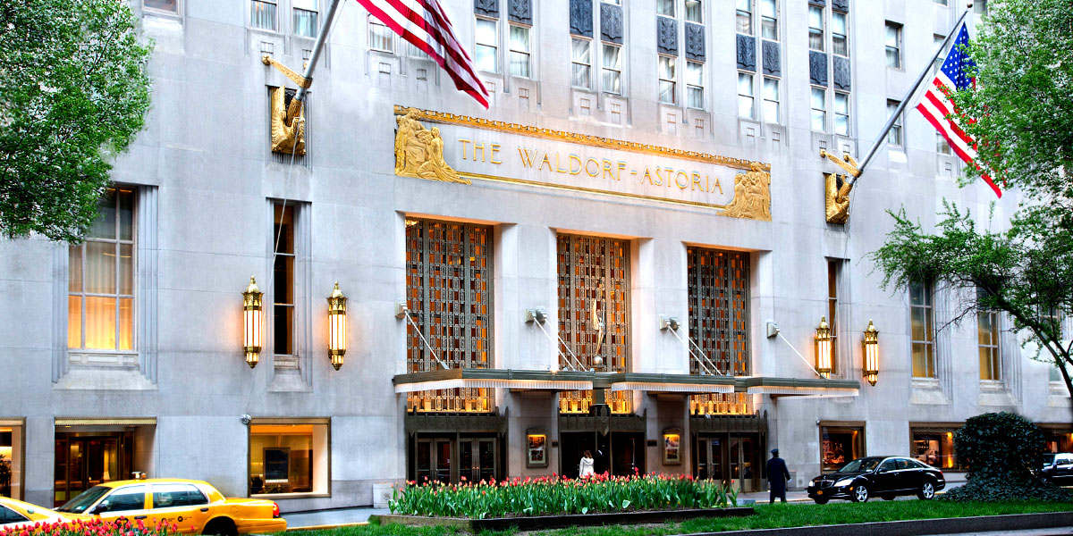 Waldorf Astoria, New York, Prestigious Venues