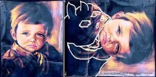 menino chorao o quadro