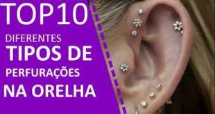 TOP 10 tipos diferentes de perfuracao da orelha