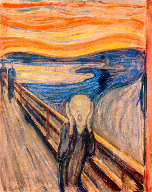 o grito  entre as pinturas mais famosas do mundo