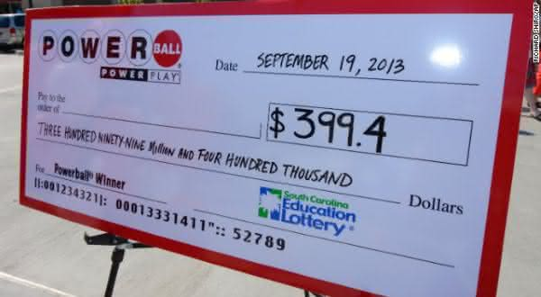 399 entre os maiores premios de loterias