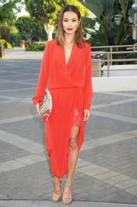 Jamie Chung V neck dress