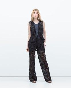 zara straight cut trousers