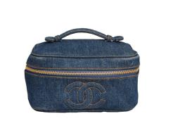 chanel denim vanity case bag