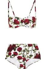 dolce &gabbana floral print bikini net a porter