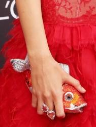 judith leiber couture koi fish crystal minaudiere in orange silver