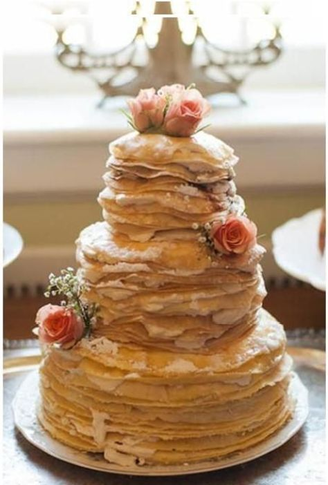 cool pancake wedding cake